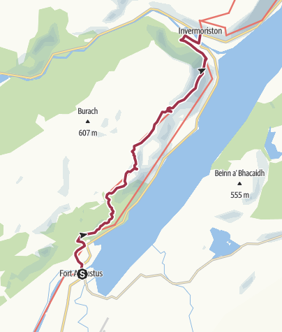 Karte / Fort Augustus to Invermoriston (High Route)