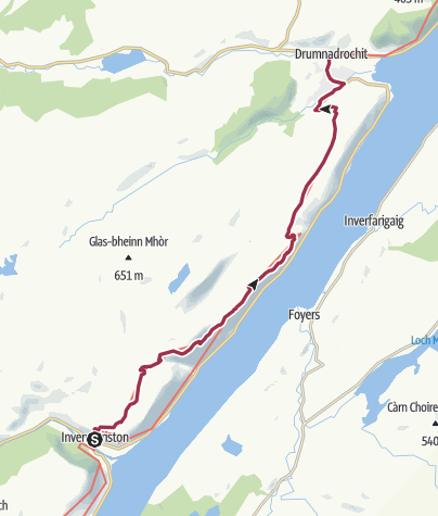 Karte / Invermoriston to Drumnadrochit (High Route)