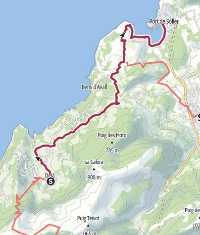 Map / Deia to Port Soller