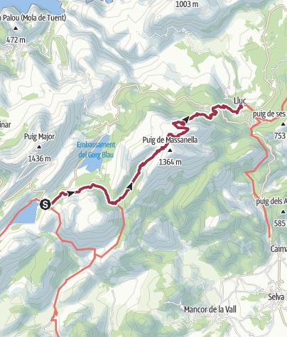 Mapa / Cuber to Lluc