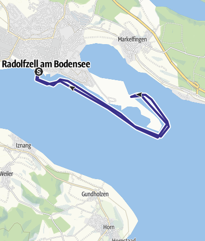 Map / Mit dem Kanu um die Halbinsel Mettnau