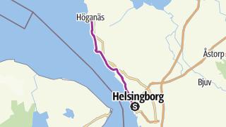 Karte / Kattegattleden: Helsingborg  – Höganäs