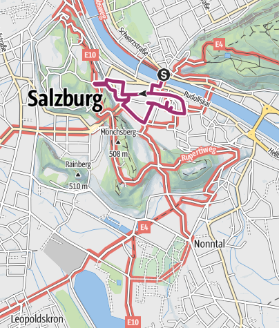 Karte / Salzburg auf den Spuren Mozarts