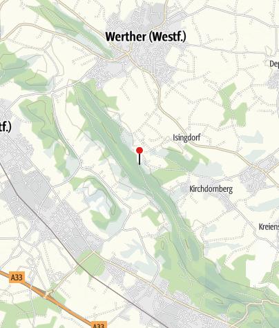 """Karte / Wanderparkplatz """"Bergfrieden"""", Werther"""