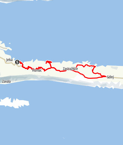 Map / Hvar - On the way to lonely bays