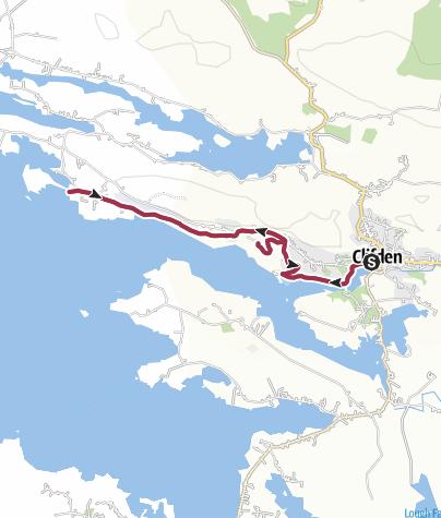 Karte / Sky Road Wanderung