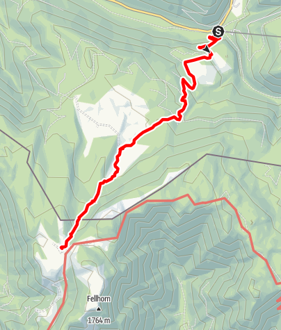 Karte / Straubinger Haus - Zustieg von Seegatterl über Obere Hemmersuppenalm