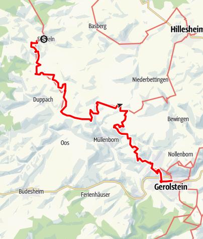 Karte / Felsenweg (4) - 8. Etappe