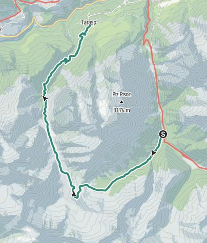Karte / Val Mingèr - Val Plavna - Tarasp