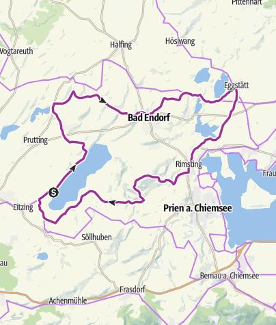 Karte / Radtour Simssee