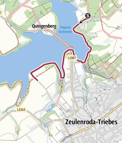 Karte / Promenadenweg am Zeulenrodaer Meer (barrierefrei)