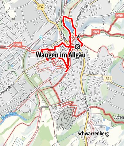 Karte / Trilogierundgang Wangen im Allgäu
