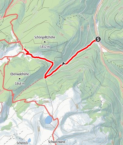 Karte / Zustieg von Bundschuh im Thomatal zur Neuen Bonner Hütte