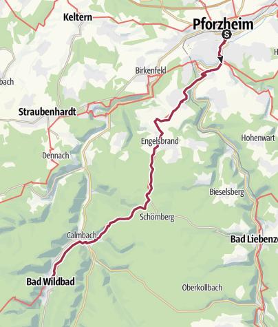 Bad Pforzheim mittelweg etappe 1 pforzheim bad wildbad wanderung
