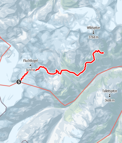 Map / Brandenburger Haus - Breslauer Hütte