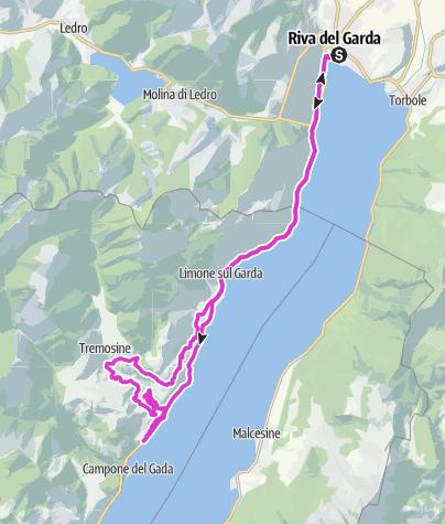 Map / Tremosine gorge