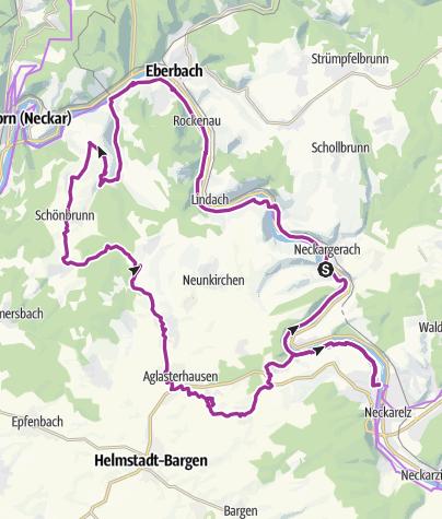 Hartă / Kleiner Odenwald-Wildpark-Tour