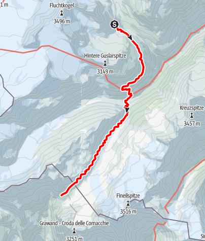 Karte / Vernagt Hütte - Hochjoch Hospiz - Schöne Aussicht