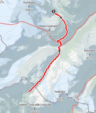 Map / Vernagt Hütte - Hochjoch Hospiz - Schöne Aussicht