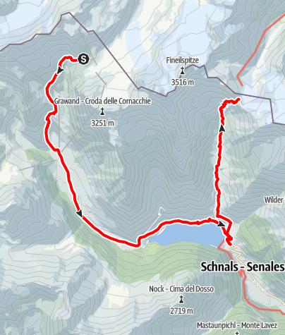 Karte / Schöne Aussicht - Kurzras im Schnalstal - Vernagt am See - Similaun Hütte
