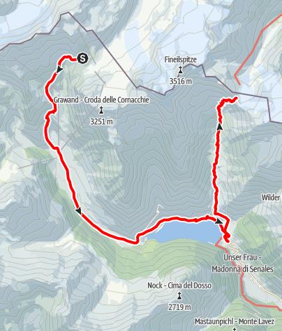 Map / Schöne Aussicht - Kurzras im Schnalstal - Vernagt am See - Similaun Hütte