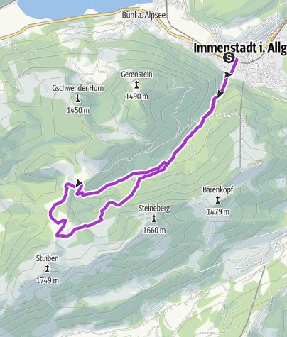 Karte / Hinauf zur Alpe Gund