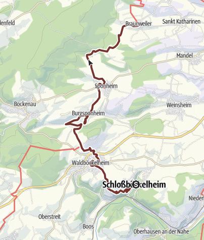 Karte / 06. Etappe Hildegard von Bingen Pilgerwanderweg: Schlossböckelheim - Braunweiler