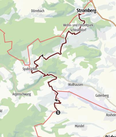 Karte / 07. Etappe Hildegard von Bingen Pilgerwanderweg: Braunweiler - Stromberg