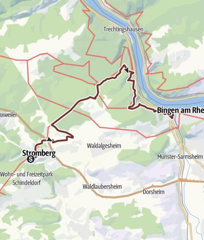 Karte / 08. Etappe Hildegard von Bingen Pilgerwanderweg: Stromberg - Bingen am Rhein