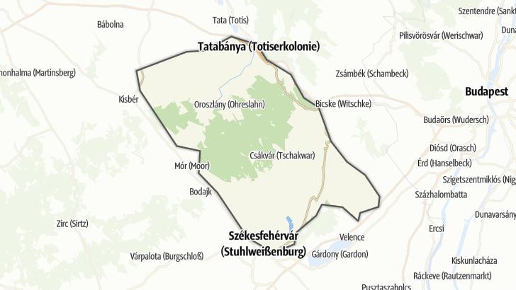 Térkép / Országúti kerékpár,  Vértes és vidéke területén