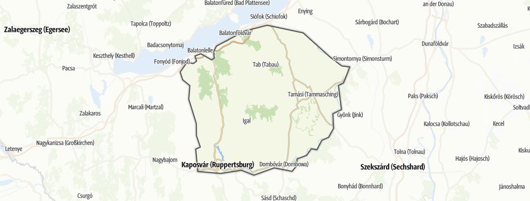 Térkép / Kerékpártúra,  Külső-Somogy területén