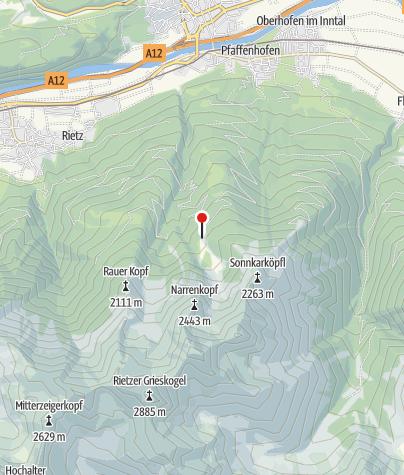 Karte / Pfaffenhofer Alm 1694m