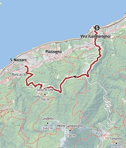 Cartina / I luoghi energetici del Gambarogno