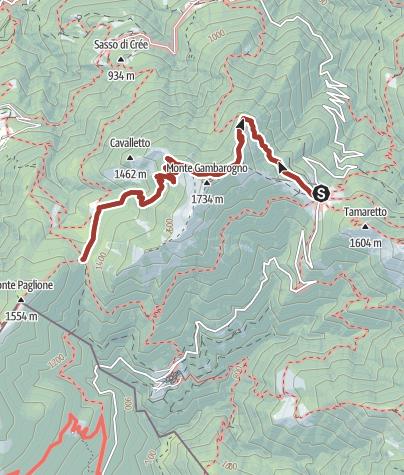 Cartina / I luoghi energetici del Monte Gambarogno