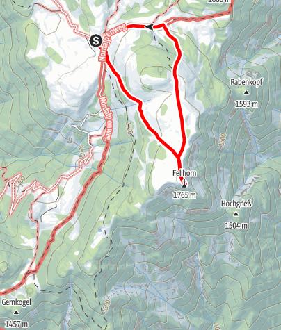Karte / Fellhorn-Rundtour ab Straubinger Haus