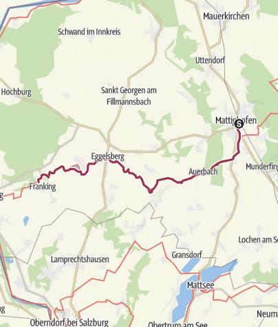 Cartina / 10 Rupertiweg, E08: Mattighofen - Holzöstersee