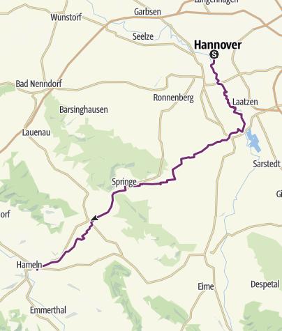 Hameln Karte.Schleifenroute De Hannover Hameln Etappe 75 1 Alternativroute