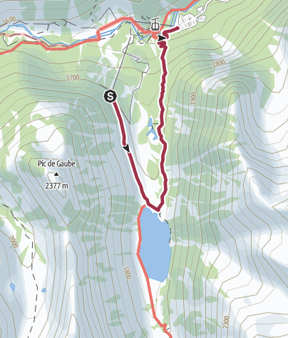 Map / Walk to Pont d'Espagne. Belvedere Cable Car. Walk to Lac Gaube Part Two