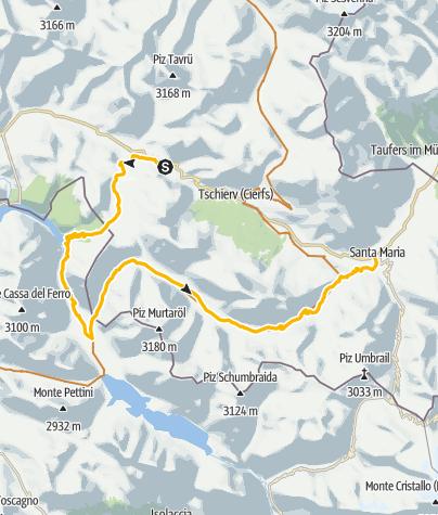 Karte / Passo del Gallo - Val Mora: Auf den Spuren von zweier Highlights des Val Müstairs