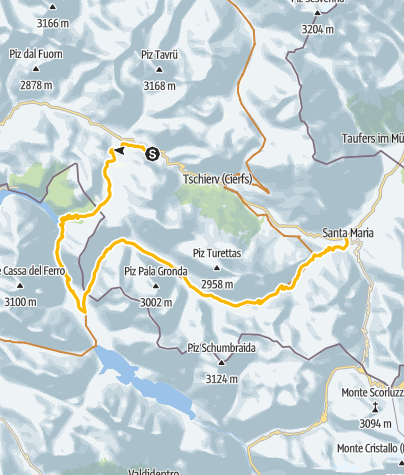 Map / Passo del Gallo - Val Mora: Auf den Spuren von zweier Highlights des Val Müstairs