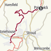 Map / Painswick to King's Stanley