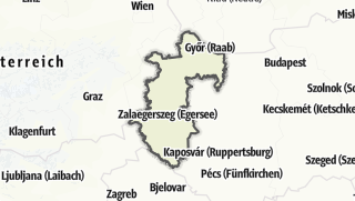 Mapa / Nyugat-Dunántúl