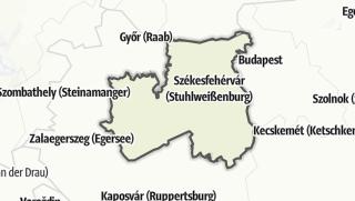 Mapa / Közép-Dunántúl