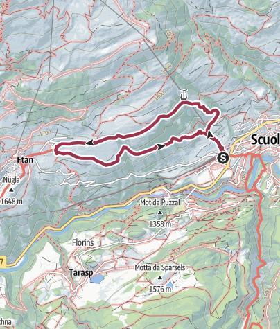 Map / Rundtour von Scuol nach Ftan