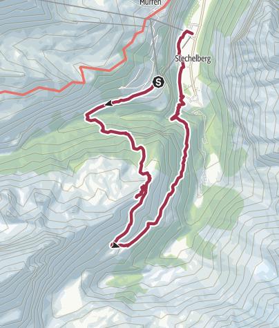 Map / Von Gimmelwald auf das Tanzbödeli