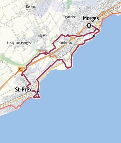 Map / Von Morges nach Tolochenaz