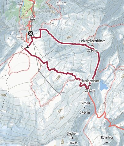 Map / Rundtour von der Engstligenalp über den Chindbettipass