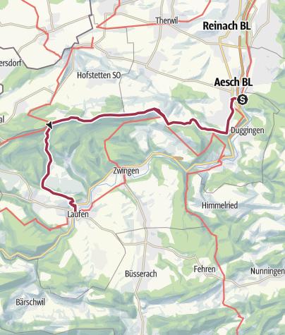 Map / Von Aesch über die Ruine Pfeffingen nach Laufen