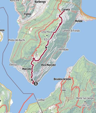 Map / Botanischer Garten San Grato
