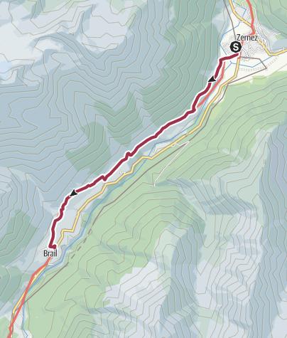 Map / Von Zernez nach Brail